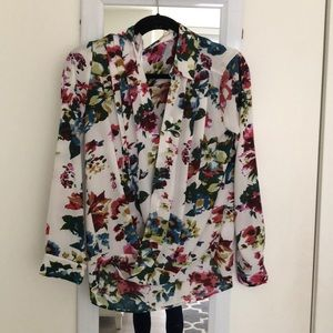 Crossover Floral blouse.